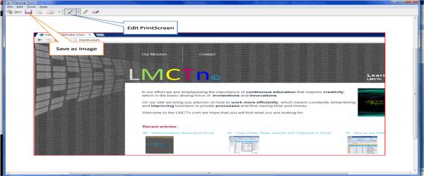 Screenshot screen capture