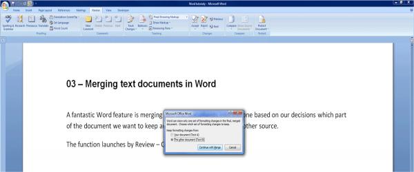 combining word files