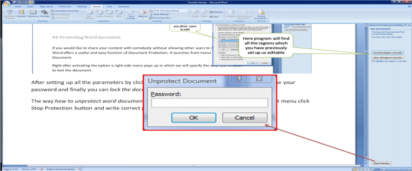 How to unlock word document